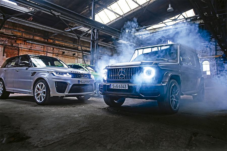 Bentley Bentayga V8 vs Mercedes-AMG G 63 vs Range Rover Sport SVR